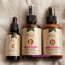 (PR) エイキンのローズヒップオイルと化粧水・乳液のトリオはしっとりと、しかしさらりとした仕上がりに!